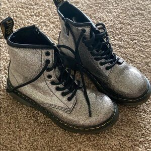 Girls size 1 sparkly doc martens